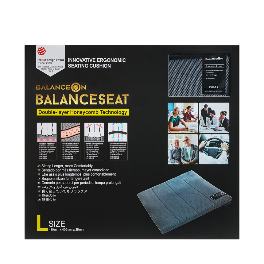 "BalanceOn Seat - Size ""L"" - Gray"