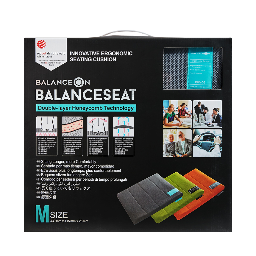 "BalanceOn Seat - Size ""M"" - Gray"