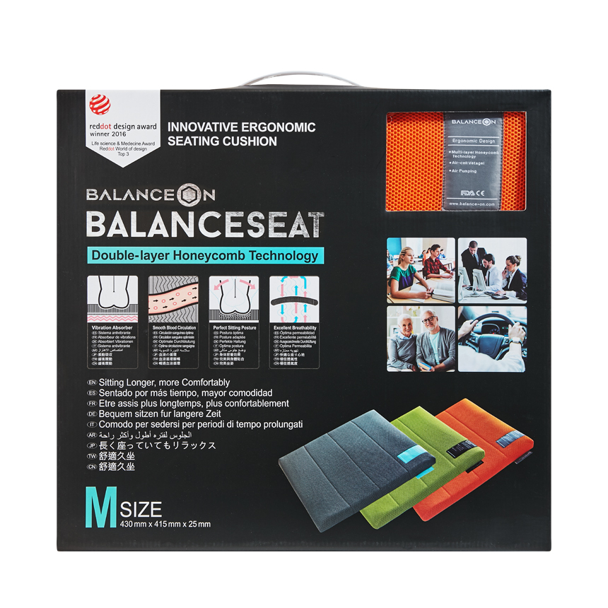 "BalanceOn Seat - Size ""M"" - Orange"
