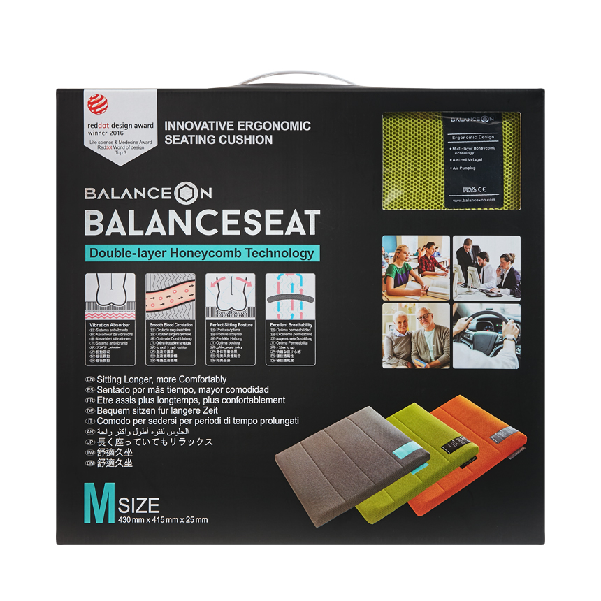 "BalanceOn Seat - Size ""M"" - Green"